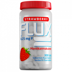 Flux Strawberry fluoritabletti 300 imeskelytabl